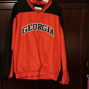 Georgia Bulldogs lined pullover size Med